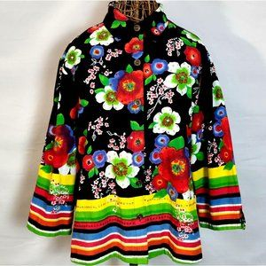 Candy Couture Rainbow Shirt 1X Jacket Black 18/20